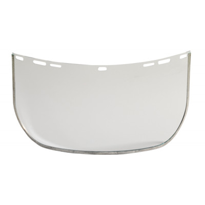 VISOR Ecran de protection polycarbonate. incolore bord métal - L40 x H20 EARLINE-60711