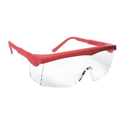 Lunettes de sécurité, Monture rouge PIVOLUX - Oculaire incolore-LUX OPTICAL