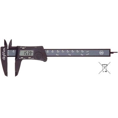 Pied à coulisse numérique digiMax WIHA, résolution 0,01 mm. 294229