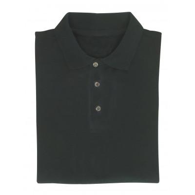 Polo noir CASTOR manches courtes - 220 g/m2 - 100 % coton - Coverguard | CASNO