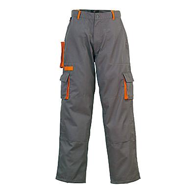 Pantalon de travail PADDOCK, gris et orange, coton-poly, 245 g/m2 COVERGUARD