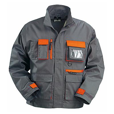 Veste de travail PADDOCK, gris et orange, coton-poly, 245 g/m2 COVERGUARD 8PADV