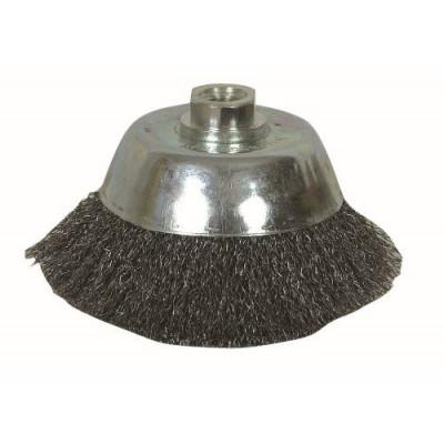 Brosse conique coupe fil ondulé pour meuleuse de diamètre 230 mm - Sodise | 15588