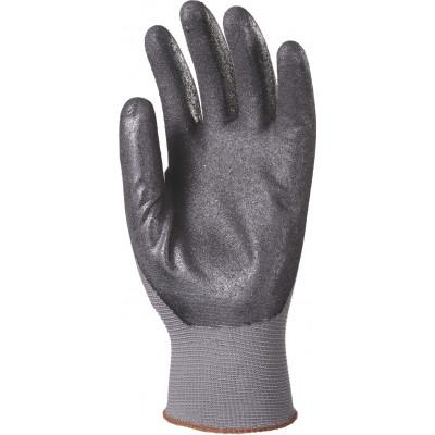 Gants nylon noir - paume enduit micro mousse nitrile gris Eurotechnique | 6320