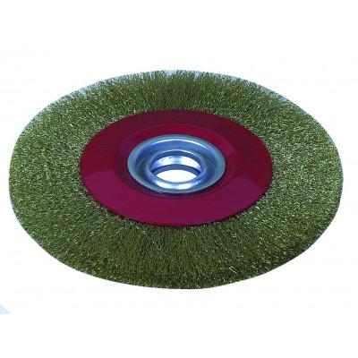 Brosse métallique pour touret 15526 - diamètre 150 - alésage 32 - Sodise | 15540