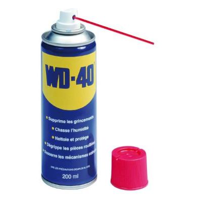 Bombe aérosol dégrippant anti-humidité WD-40 200ml 10252
