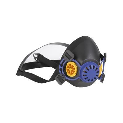 Demi masque en caoutchouc, pour 2 filtres, Easymask | 22201