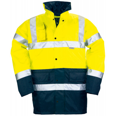 Parka polyester hi-viz jaune/marine, 3M 70449 Coverguard