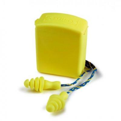 Bouchons anti-bruit réutilisable EARLINE avec corde 30213 (100 paires)