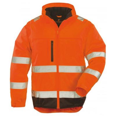 Veste 2 en 1 HI-WAY Xtra - polyester - orange et noire - Coverguard   7HWXO