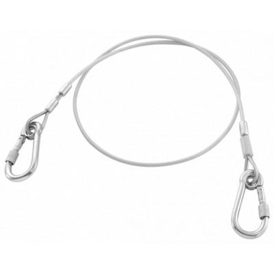 LAN1.2MSLS Facom Longe 1,2 m câble acier - Double mousquetons 80 mm en inox à vis - SLS