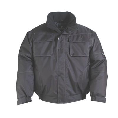 Blouson noir BOUND BLACK - polyester oxford enduit PU - impermeable coutures étanches  - Coverguard   8BB0B