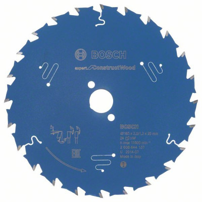 2608644137 Lame de scie circulaire Expert for Construct Wood Accessoire Bosch pro outils