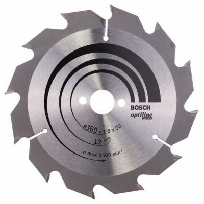 2608641170 Lame de scie circulaire Optiline Wood Accessoire Bosch pro outils