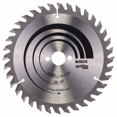 2608640597 Lame de scie circulaire Optiline Wood Accessoire Bosch pro outils