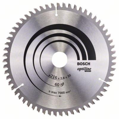 2608640642 Lame de scie circulaire Optiline Wood Accessoire Bosch pro outils