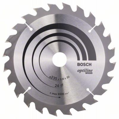 2608640725 Lame de scie circulaire Optiline Wood Accessoire Bosch pro outils