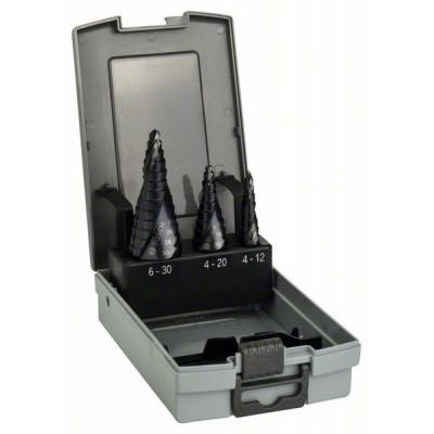 2608588069 Fraises étagées HSS-AlTiN, assortiment de 3 pièces Accessoire Bosch pro outils