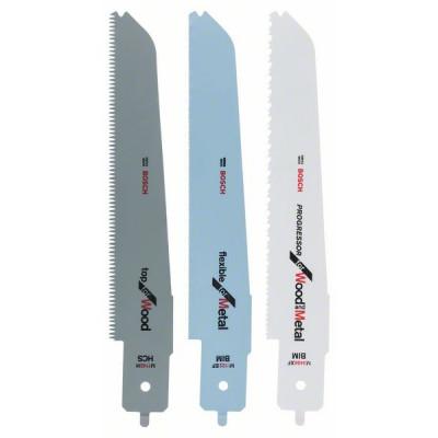 2608656934 Lames de scie sauteuse pour égoïne multifonction Bosch PFZ 500 E, jeu de 3 pièces Accessoire Bosch pro outils