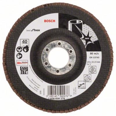 2608608276 Plateau à lamelles X581, Best for Inox Accessoire Bosch pro outils