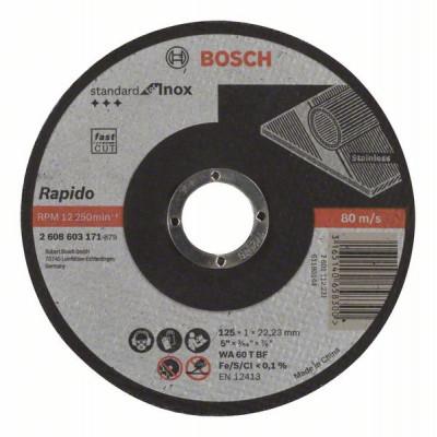 2608603171 Disque à tronçonner à moyeu plat Standard for Inox - Rapido Accessoire Bosch pro outils