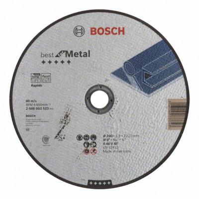 2608603522 Disque à tronçonner à moyeu plat Best for Metal - Rapido Accessoire Bosch pro outils