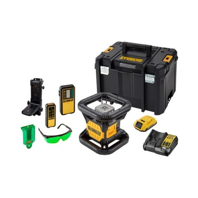 Niveau laser rotatif double pente intérieur/extérieur 18 Volts - Faisceux vert DEWALT | DCE079D1G