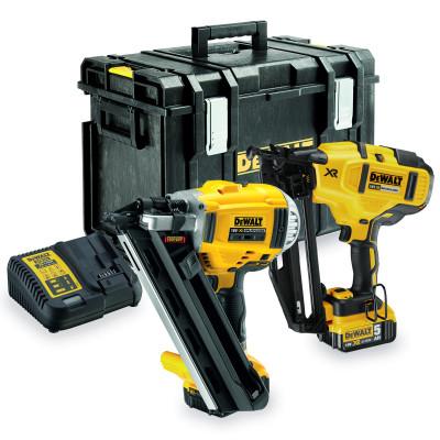 Kit 2 outils 18V : Cloueur de charpente (DCN692) + Cloueur de finition (DCN660) Dewalt | DCK264P2