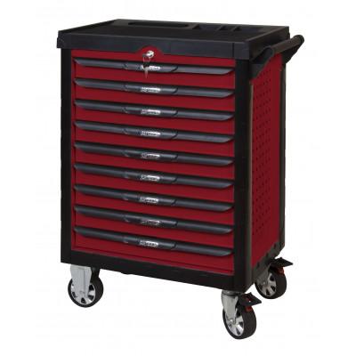 Servante rouge Pearl Line - 9 tiroirs - L 678 x l 459 x H 859 mm - KSTOOLS | 809.0009