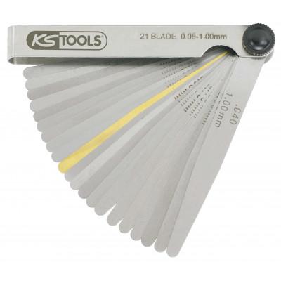 Jauge d'épaisseur en acier trempé -  L 100 mm - lame ronde - épaisseur 1/100 - KSTOOLS | 300.0600