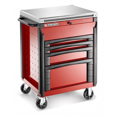 Servante 4 tiroirs équipée carrosserie FACOM | CR.T4XL2PB