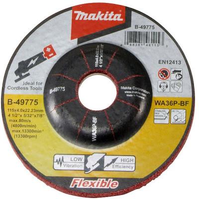 Makita B-53110 Meule à ébarber flexible pour métal et inox, pour meuleuses d'angle à batterie