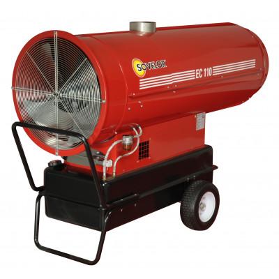 Chauffage air pulsé mobile au fuel à combustion indirecte Sovelor | EC110
