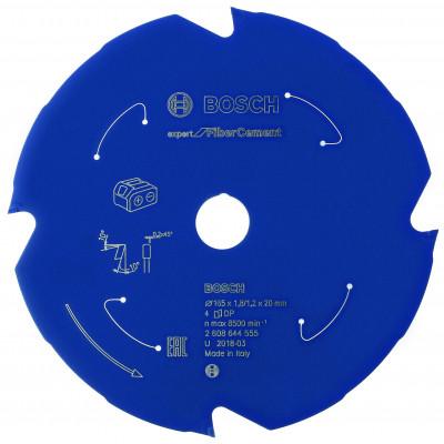 Lame de scie circulaire Sans-fil Expert for Ciment 165x20x4T Bosch Professional | 2608644555