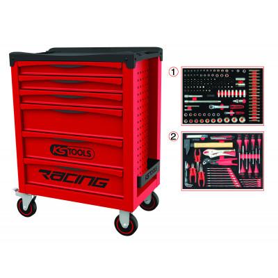 Servante RACING 6 tiroirs équipée de 184 outils KS Tools | 855.6184