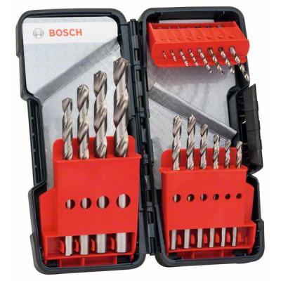 Forets à métaux HSS-R, 118°, boîtier rigide de 18 pièces Accessoire Bosch pro outillage 2608589294