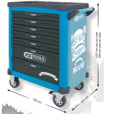 Servante MIAMI 7 tiroirs édition limitée équipée de 284 outils KSTools | 821.7284