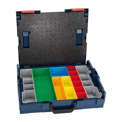 1600A001S2 Coffret de transport Bosch L-BOXX 102 + set de casiers inset box 13 pièces Professional outils Bosch Bleu