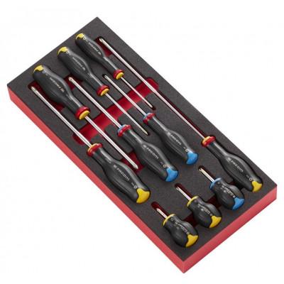 Module mousse 10 tournevis Protwist Cruciforme Facom | MODM.AT5PB