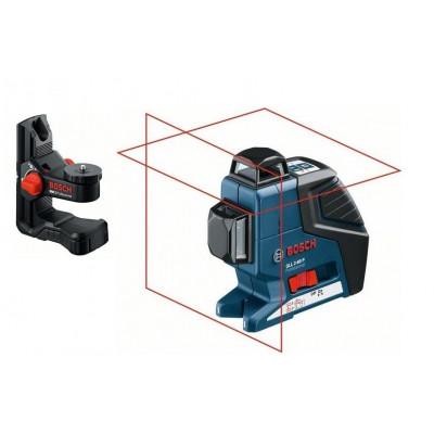 Laser croix 20 m - GLL 2-80 P + support universel BM 1 - coffret L-Boxx -  Bosch Professionnel | 0601063206