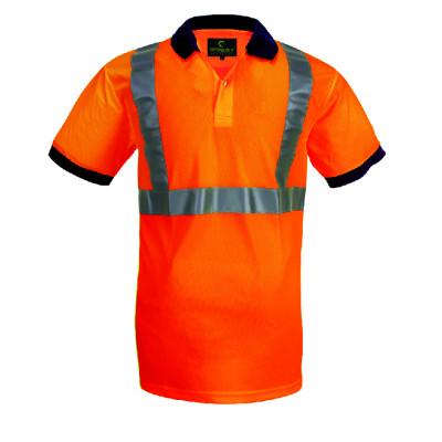 Polo hi-viz orange bande baudrier - 3M - COVERGUARD | 70281